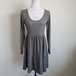 Wild Fable Gray Babydoll Mini Dress Womens Small